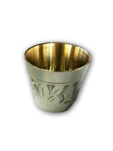 Designer Brass Glass / Bhog Glass / Glass For Pooja