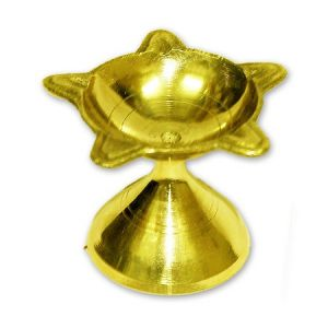 Brass Panchbatti Diya Golden Panch Arti Diya Decorative Diya