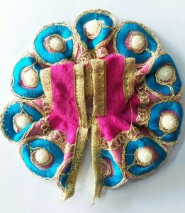 Pretty Moti Work Woolen Poshak For Laddu Gopal / Designer Poshak - 2 PCs