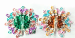Designer Thread Border Poshak For Laddu Gopal / Poshak For Bal Gopal (0 No) - 2 PCs