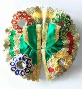 Kanch Work Flower Poshak For Laddu Gopal / Designer Poshak For Bal Gopal