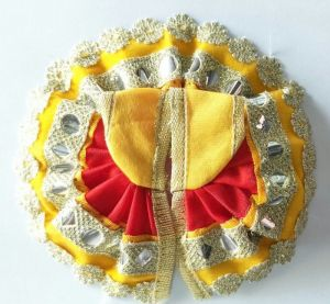 Pretty Small Flower Lace Poshak For Bal Gopal / Designer Poshak For Laddu Gopal