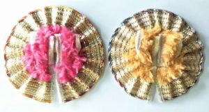 Elegent Woolen Poshak For Laddu Gopal Shringar / Beautiful Poshak For Bal Gopal (1 No) - 2 PCs