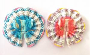 Beautiful Summer Poshak For Laddu Gopal / Embroidery Poshak For Thakurji (1 No ) - 2 PCs