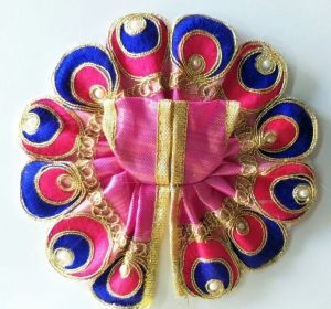 Colourful Thread Work Woolen Poshak For Laddu Gopal Shringar / Designer Poshak For Thakurji (1 No)
