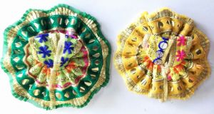 Classic Woolen Poshak For Laddu Gopal Shringar / Beautiful Poshak For Bal Gopal (1 No) - 2 PCs