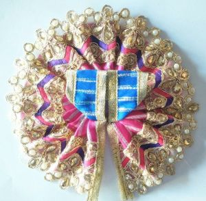 Designer Flower Look Work On Bottom Poshak For Laddu Gopal / Designer Poshak For Thakurji