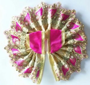 Designer Poshak For Laddu Gopal Shringar / Leaf Work Poshak For Thakurji