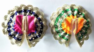Beautiful Woolen Poshak For Bal Gopal / Designer Poshak For Laddu Gopal - 2 PCs