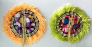Designer Fur Poshak For Laddu Gopal Shringar / Beautiful Poshak For Bal Gopal - 2 PCs