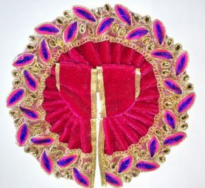 Classic Leaf Work Woolen Poshak For Bal Gopal / Designer Poshak For Laddu Gopal