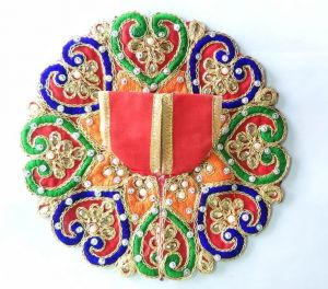 Thread Moti And Kundan Work Poshak For Laddu Gopal / Heart Design Poshak For Bal Gopal