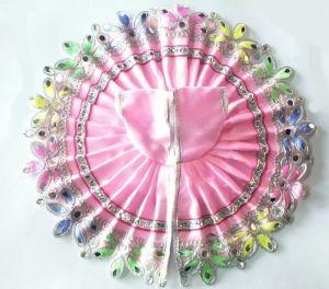 Beautiful Mirror And Thread Work Flower Border Poshak For Laddu Gopal (5 No)