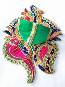 Shankh Design Poshak For Thakurji / Parrot Work Poshak For Laddu Gopal