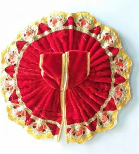 Beautiful Thread Work Woolen Poshak For Bal Gopal / Designer Poshak For Laddu Gopal (6 No)