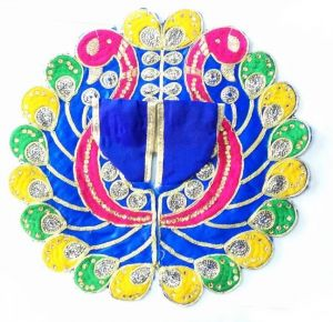 Laddu Gopal Poshak / Peacock Design Poshak For Bal Gopal