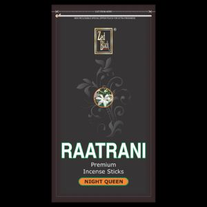 Zed Black Raatrani Insence Stick Zipper Pack 250gm With Agarbatti Stand/holder