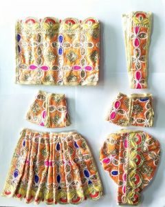 Designer Sitara Work Poshak For Radha Krishna Set / Beautiful Poshak For Radha Krishna
