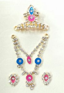Beautiful Jewellery Set Of Bal Gopal / Designer Set Of God Jewellery