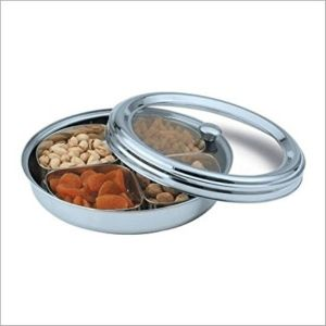 Ankur Stainless Steel Dry Fruit Set Cum Pickle Set