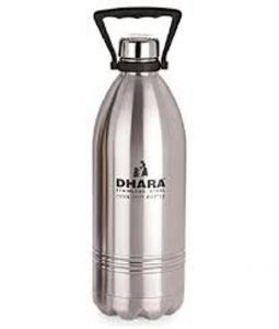 Dhara Stainless Steel Cool - Hot Water Bottle 2200 Ml / Bottle Cum Flask