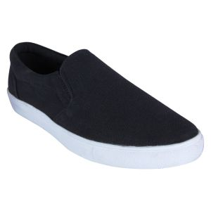 Monkx Women Black Slip On Casual Shoes For Men_mwsl-001-black
