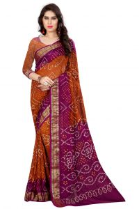 Nirja Creation Orange Color Art Silk Saree Nc-td-1034