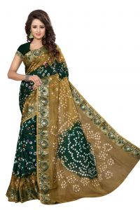 Nirja Creation Green Color Art Silk Bandhani Saree Nc1042ssd