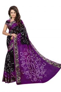 Nirja Creation Violate Color Art Silk Bandhani Saree Nc1043ssd