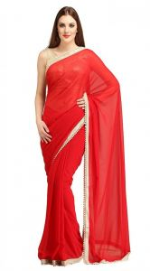 Nirja Creation Red Georgette Fancy Saree (code - Nc-ods-149)