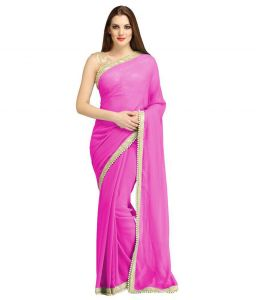Nirja Creation Pink Georgette Fancy Saree (code - Nc-ods-160)