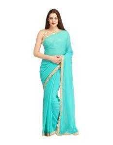 Nirja Creation Green Georgette Fancy Saree (code - Nc-ods-163)