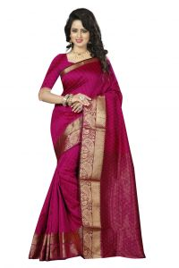 Nirja Creation Pink Color Cotton Fancy Saree (code - Nc-fr-177)
