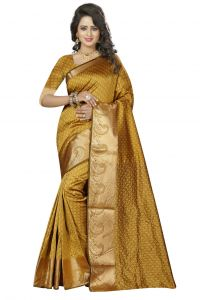 Nirja Creation Yellow Color Cotton Fancy Saree (code - Nc-fr-186)