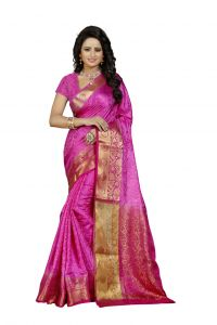 Nirja Creation Pink Color Banarasi Cotton Fancy Saree (code - Nc-fr-760)