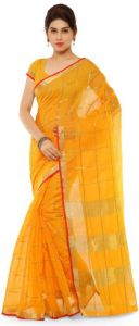 Nirja Creation Yellow Color Banarasi Cotton Fancy Saree (code - Nc-od-840)