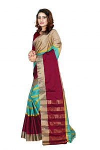 Nirja Creation Multi Color Banarasi Cotton Fancy Saree (code - Nc-fr-857)