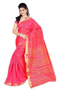 Nirja Creation Pink Color Banarasi Cotton Fancy Saree (code - Nc-fr-861)