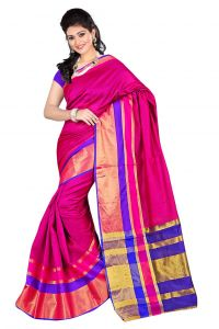 Nirja Creation Pink Color Banarasi Cotton Fancy Saree (code - Nc-fr-868)