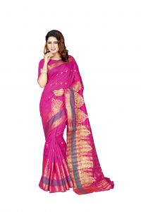 Nirja Creation Pink Color Banarasi Cotton Fancy Saree (code - Nc-od-894)