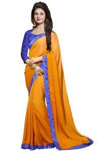 Nirja Creation Blue Color Georgette Fancy Saree (code - Nc-ods-108)