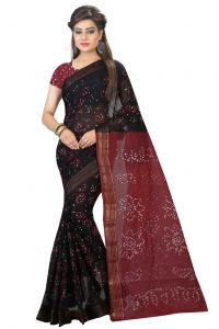 Nirja Creation Brown Color Cotton Silk Bandhani Saree Nc1073ssd