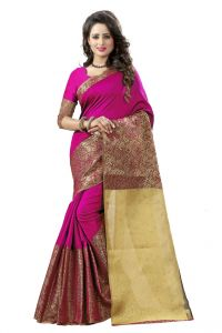 Nirja Creation Pink Color Banarasi Cotton Fancy Saree (code - Nc-od-814)