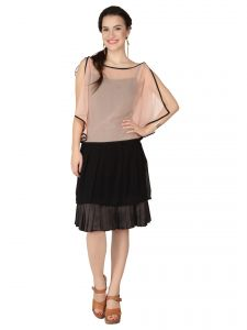 Soie Pink Georgette, Crepe Top For Women (code - 6287_i_pink)