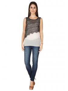 Soie Off White Georgette Top For Women (code - 6171_i_off_white)