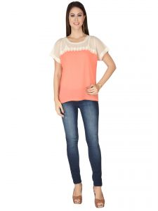 Soie Pink Georgette Top For Women (code - 6290_i_pink)