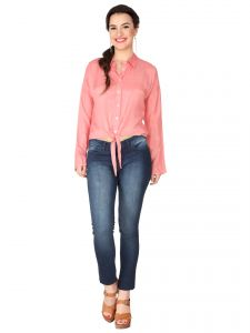 Soie Blush Pink Lycra Voile Top For Women (code - 6277_i_blush_pink)