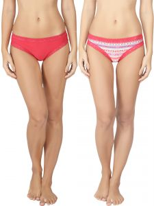 Soie Pink Nylon Panty For Women Pack Of 2 (code - 2bf_10ethnic)