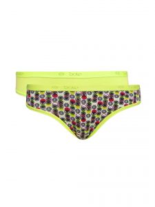 Soie Multicolor Cotton/spandex Panty For Women Pack Of 2 (code - 2bf_9circles)