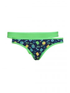 Soie Multicolor Cotton/spandex Panty For Women Pack Of 2 (code - 2bk-4accessories-1)